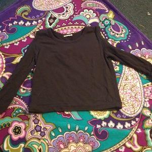 Black  cold shoulder sweat shirt